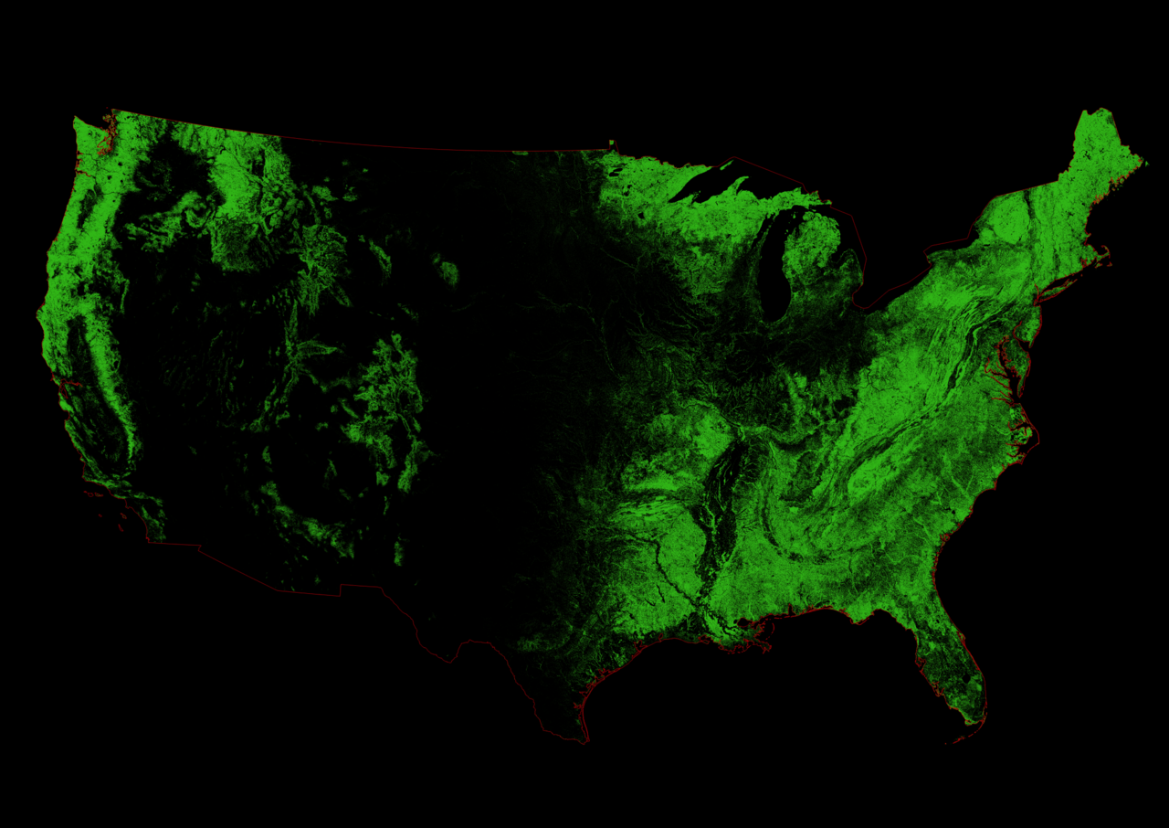 Watershed Map of the United States Cascadia by Szcs Rbert