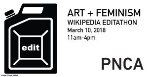 Cascadia Wikimedia: Art and Feminism Editathon @ Pacific Northwest College of Art | Portland | Oregon | United States