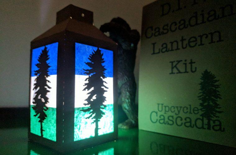 Cascadia DIY Lantern Kit. Made of UpCycled materials