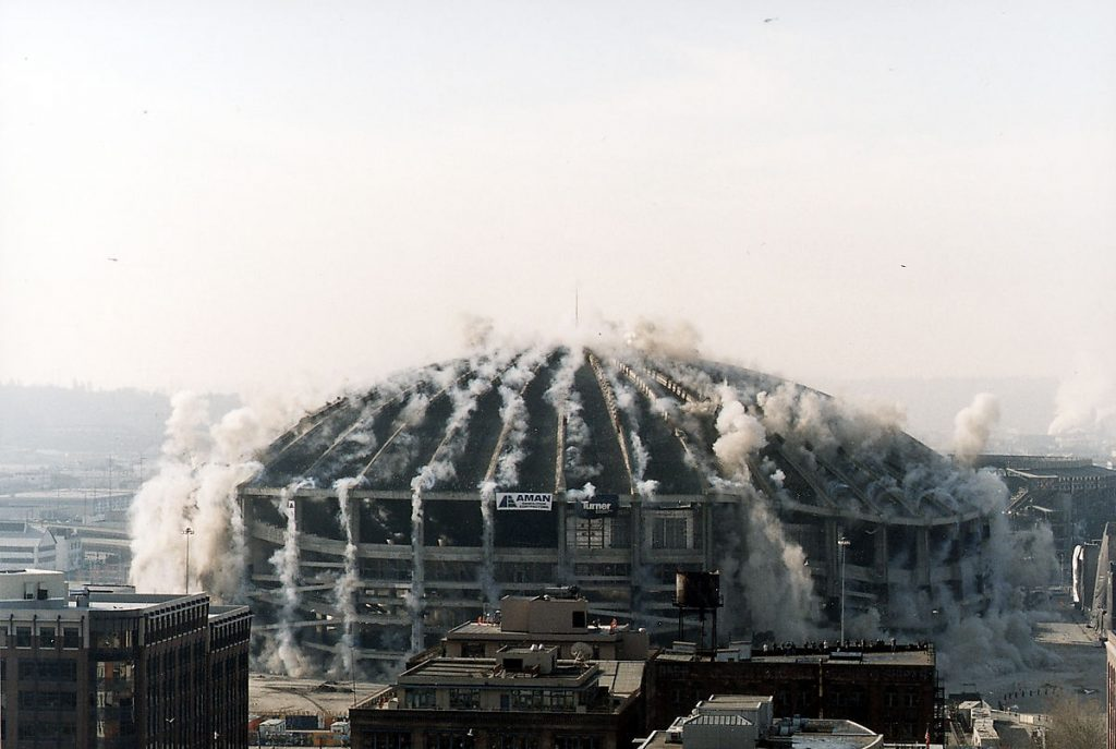 seattle kingdome implosion cascadia